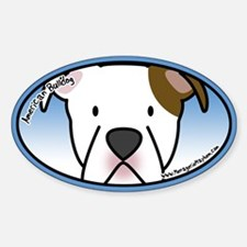 Anime American Bulldog Oval Decal