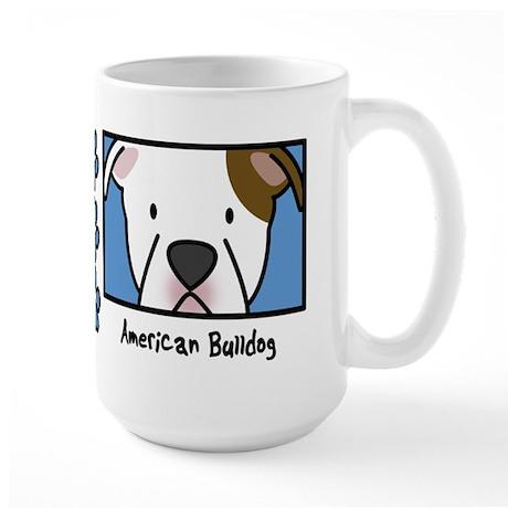 Anime American Bulldog Large Mug