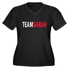 Sarah Women's Plus Size V-Neck Dark T-Shirt