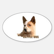Cattle Dog Oval Decal