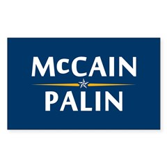 Country First - McCain Palin Rectangle Sticker 10
