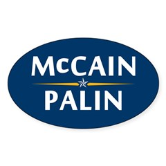 Country First - McCain Palin Oval Decal