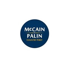 Country First - McCain Palin Mini Button
