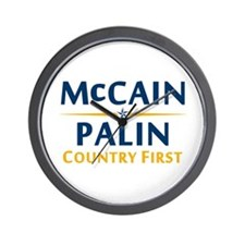 Country First - McCain Palin Wall Clock