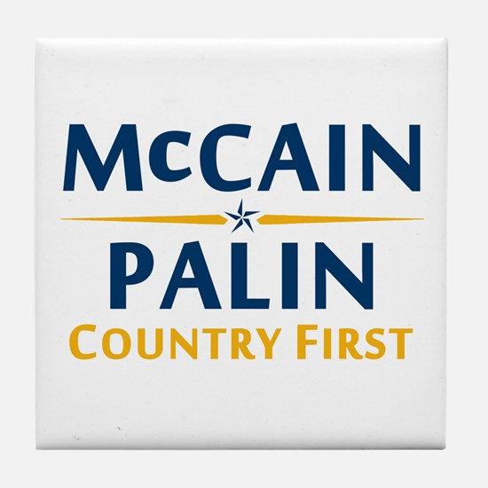 Country First - McCain Palin Tile Coaster