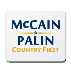 Country First - McCain Palin Mousepad