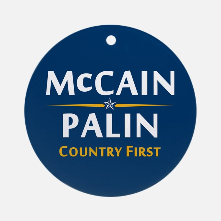 Country First - McCain Palin Ornament (Round)