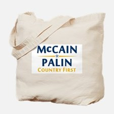 Country First - McCain Palin Tote Bag