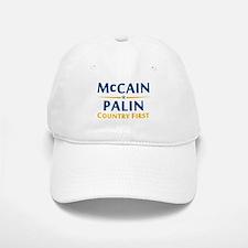 Country First - McCain Palin Baseball Baseball Cap