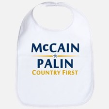 Country First - McCain Palin Bib