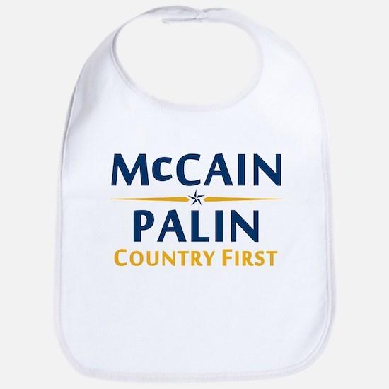 Country First - McCain Palin Bib