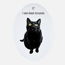 I See Dead Mousies Ornament (Oval)