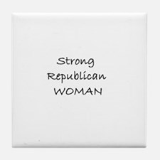 Strong Republican Woman Tile Coaster