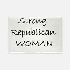 Strong Republican Woman Rectangle Magnet