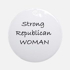 Strong Republican Woman Ornament (Round)