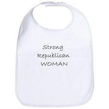 Strong Republican Woman Bib