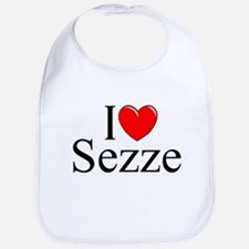 """I Love (Heart) Sezze"" Bib"