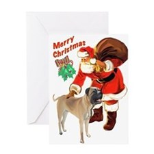 Bullmastiff Christmas Greeting Card