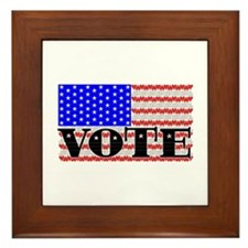 Vote American Flag 1 Framed Tile
