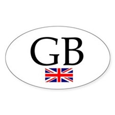 Great Britain Oval Decal