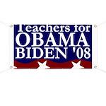 Teachers for Obama-Biden Banner