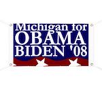 Michigan for Obama-Biden Banner