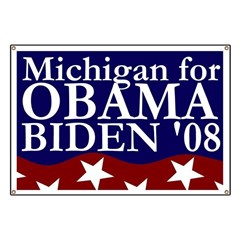 Michigan for Obama-Biden Banner