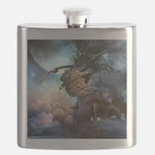 Awesome flying eagle in the night Flask