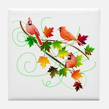 Three Cardinals Tile Coaster