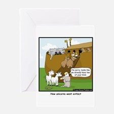 Unicorn Extinction Greeting Card