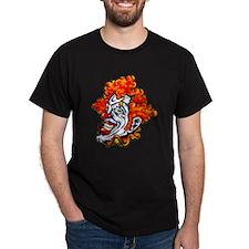 Circus Clown Tattoo Art (Front) T-Shirt