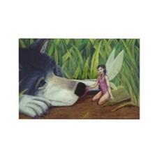 "Moonlight Fantasies ""Wolf & Fairy"" Magnet"