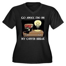 Coffin Break Women's Plus Size V-Neck Dark T-Shirt