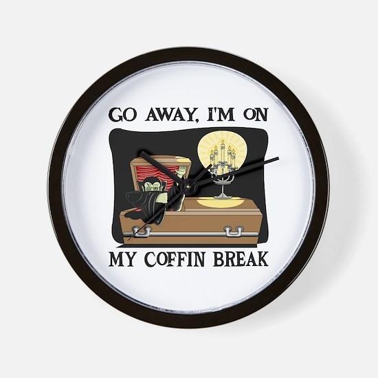 Coffin Break Wall Clock