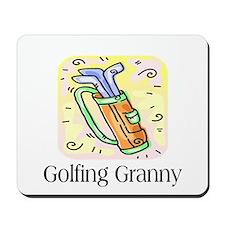 Golfing Granny Mousepad
