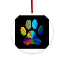PAW PRINT Ornament (Round)