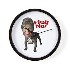 Pitbull Palin Wall Clock