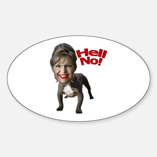 Pitbull Palin Oval Decal
