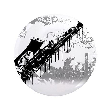 "Sax Graffiti 3.5"" Button (100 pack)"