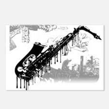 Sax Graffiti Postcards (Package of 8)