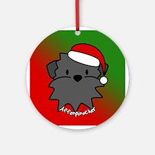 Cartoon Affenpinscher Christmas Ornament