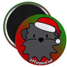 Cartoon Affenpinscher Christmas Magnet
