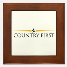 Cute Countries Framed Tile