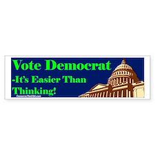 """""""Thinking Is Hard"""" Bumper Sticker"""