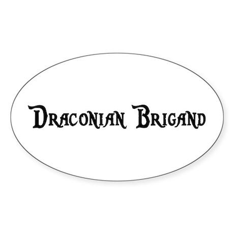 Draconian Brigand Oval Sticker (50 pk)
