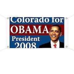 Colorado for Obama campaign banner