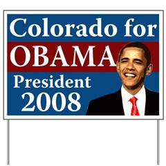 Colorado for Obama lawn sign