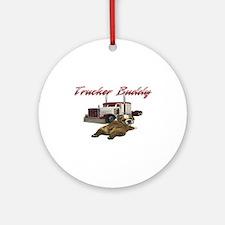 Trucker Buddy Ornament (Round)