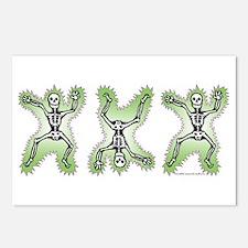 Triple Skeleton Postcards (Package of 8)