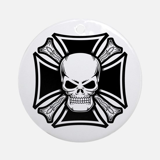 Skull Daggery Ornament (Round)